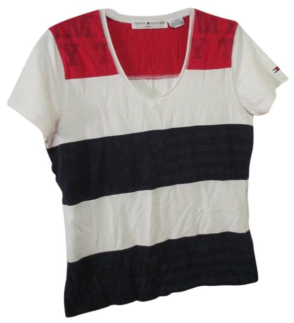 Tommy Hilfiger Fourth Of July Sleeve T Shirt Red, White, & Blue
