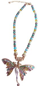 Kirks Folly Kirks Folly Crystal Bead Necklace With Enhancer