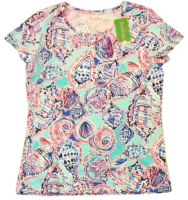 Lilly Pulitzer T Shirt Multi Shell Me About It