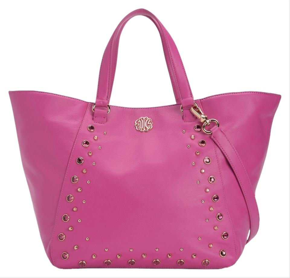juicy couture hollywood large leather pink tote bag on sale 45 off totes on sale. Black Bedroom Furniture Sets. Home Design Ideas