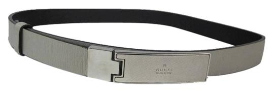 Preload https://item2.tradesy.com/images/gucci-gray-leather-and-silver-gucci-logo-buckle-fits-26-to-28-belt-5449951-0-0.jpg?width=440&height=440
