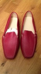 Tommy Bahama red leather Flats