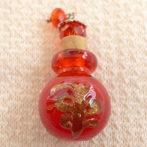 Sexy Red Blown Glass Perfume Bottle Necklace Free Shipping