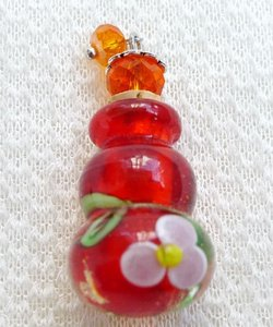 Real Perfume Bottle Red Glass Necklace Free Shipping