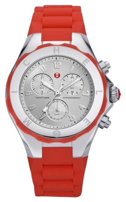 Item - Red/Silver Jelly New Womens (Mww12f000048) Tahitian Bean Chronograph Coral Watch