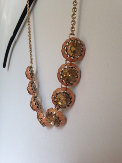 J.Crew J.Crew Large Pink Stone and Enamel Necklace