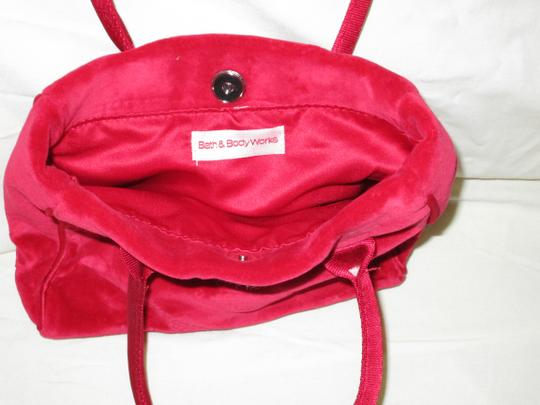 Bath and Body Works Velour Evening Tote in Red