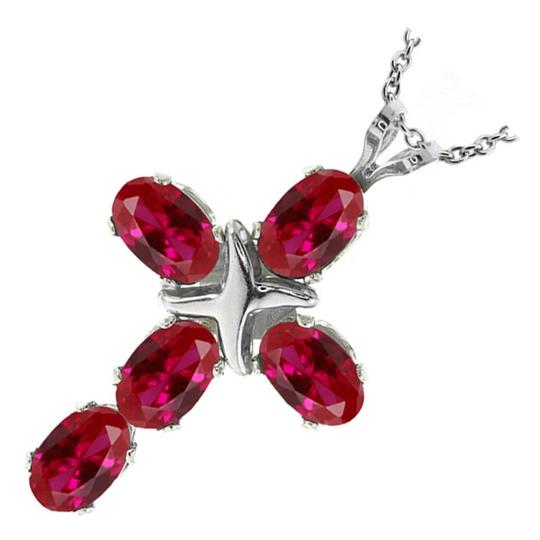 Bogo Red Topaz Cross Necklace Free Shipping