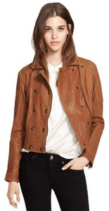 Burberry Leather Spring Summer Moto Biker Motorcycle Jacket