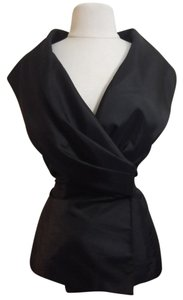 Calvin Klein Taffeta Evening Wear Top Black