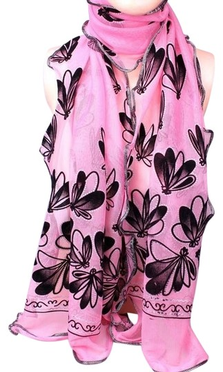 Other Pink Sparkle Butterfly Scarf Free Shipping