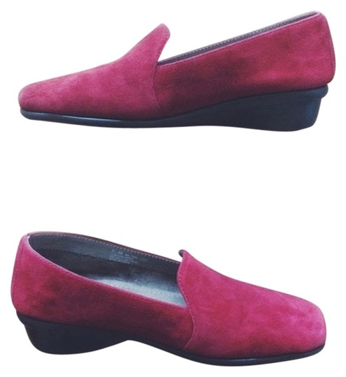 Aerosoles Suede Loafers Red Flats