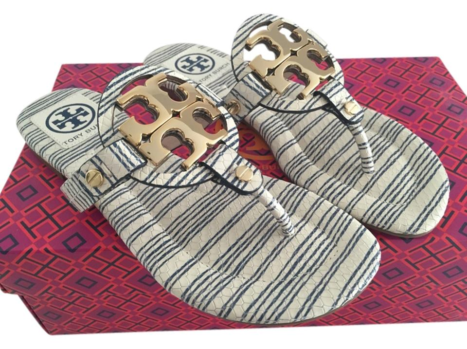 Tory Burch Piano Snake Stripe Blue Gold Miller 2 Vitraux Snake Piano Print Sandals 0a82d6