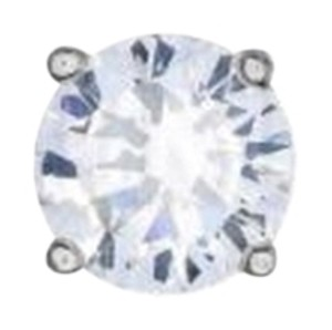 Other Platinum Plated Earrings Fancy 925 Silver Round Solitare 1.20 Ct Cubic Zirconia