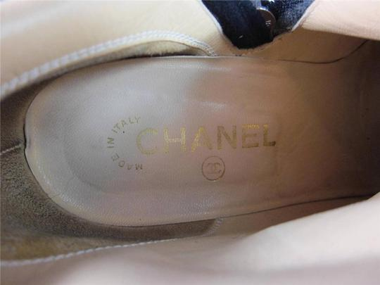 Chanel Cc Logo Leather Boots