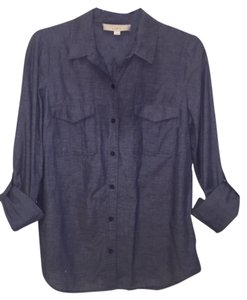 Ann Taylor LOFT Button Down Shirt Chambray