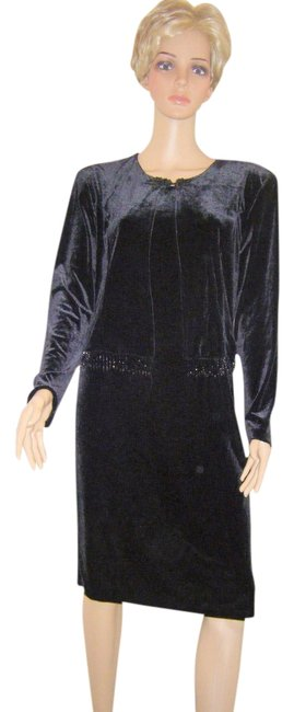 Preload https://img-static.tradesy.com/item/545166/another-thyme-black-wattached-beaded-jacket-velvet-by-knee-length-cocktail-dress-size-12-l-0-0-650-650.jpg