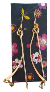 New!! Unworn Delicate Gold Crystal Drop Earrings FREE SHIPPING