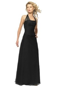 Alexia Designs Black Chiffon Style 2602 Formal Bridesmaid/Mob Dress Size 8 (M)
