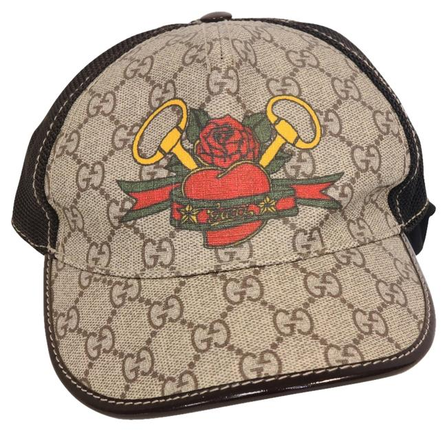 Item - Brown Limited Edition Women's Baseball Cap with Heart Tattoo Hair Accessory