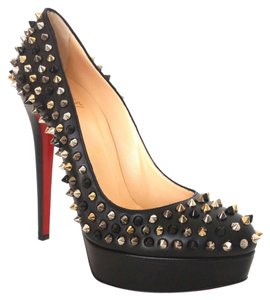 Christian Louboutin Bianca 140 Multi Black Nappa Leather Platform 39.5 9.5 New Black, Multi Pumps