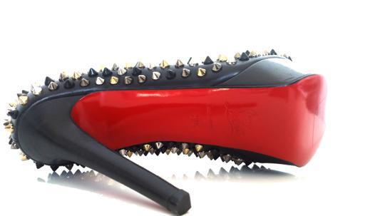 Christian Louboutin Bianca Spikes Platform 39.5 Black, Multi Pumps