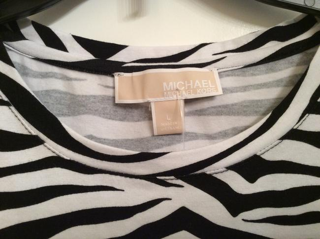 Michael Kors Zebra Print T Zebra T T Shirt Black and white