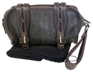 Dsquared2 Leather Lambskin Travel Brown Travel Bag