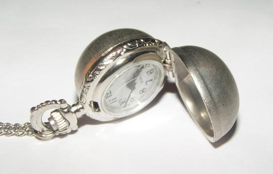 Other Brushed Silver Ball Pocket Watch Sweater Necklace Free Shipping
