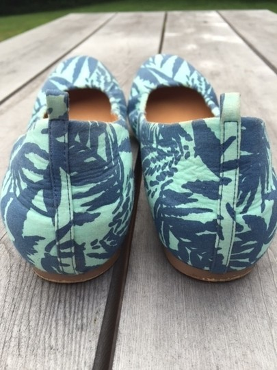J.Crew Green and Blue Flats