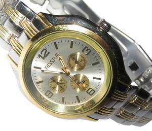 Rosra Two Tone Silver/Gold Men's Quartz Watch Free Shipping