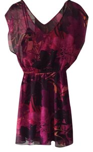 Express short dress Floral pinks snd purples on Tradesy
