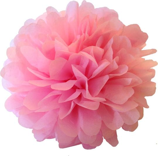 "Light Pink 15pcs - 4"" 8"" 12"" Mixed 3-sizes Tissue Paper Pom-poms Pompom Flower Party Home Indoor Outdoor Hanging Other"