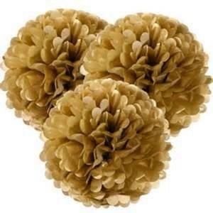 "Tan 15pcs - 4"" 8"" 12"" Mixed 3-sizes Tissue Paper Pom-poms Pompom Flower Party Home Indoor Outdoor Hanging Other"