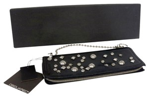 DSquared DSquared2 Large Bold Star Studded Modern Chain Wallet Leather