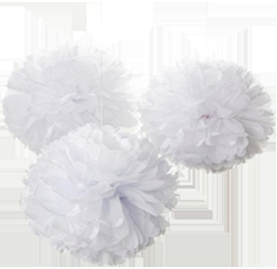 """15pcs - 4"""" 8"""" 12"""" Mixed 3-sizes White Tissue Paper Pom-poms Pompom Flower Wedding Party Home Indoor Outdoor Hanging"""
