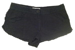 Paul & Joe Cut-out Cotton Mini/Short Shorts Black