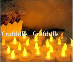 New Lot 96 Tea Led Amber Candle Flicker Light Flameless Weeding Party Home Table Decorate Decoration Tealights
