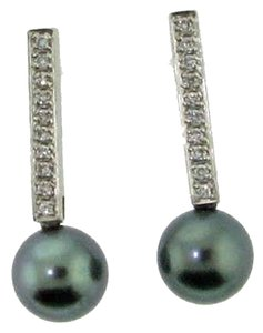 Other 18k White gold & 1/3 ct diamond south sea pearl earrings