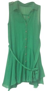 PAPER DOLL short dress Green on Tradesy