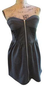 Ark & Co. Polyester Zip Front Bustier Sweetheart Dress