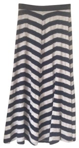 INC International Concepts Maxi Skirt Navy stripes