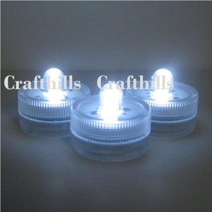 20 Bright White Led Floral Candle Tea Light Submersible Floralyte Party Home