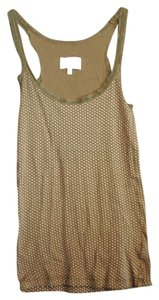 Rue 21 Lace Trim Polka Dot Soft Stretchy Top olive Green