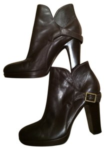 Vera Wang Buckles Buckled Designer Chocolate Brown Boots