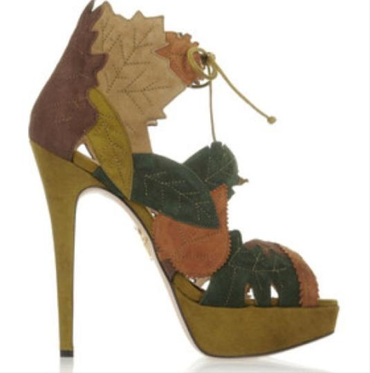 Charlotte Olympia Multi Color - Greens Sandals