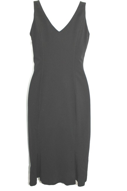 Piazza Sempione Black Stretchy Wool Dress