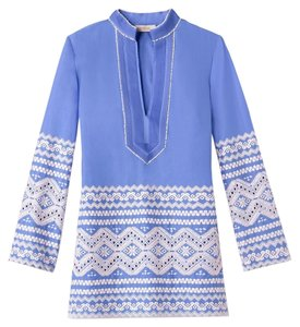 Tory Burch Zita Shirt Embroidered Cotton Anthropologie 6 New Nwt Nwt Summer Beach Travel Swim Pool Tunic