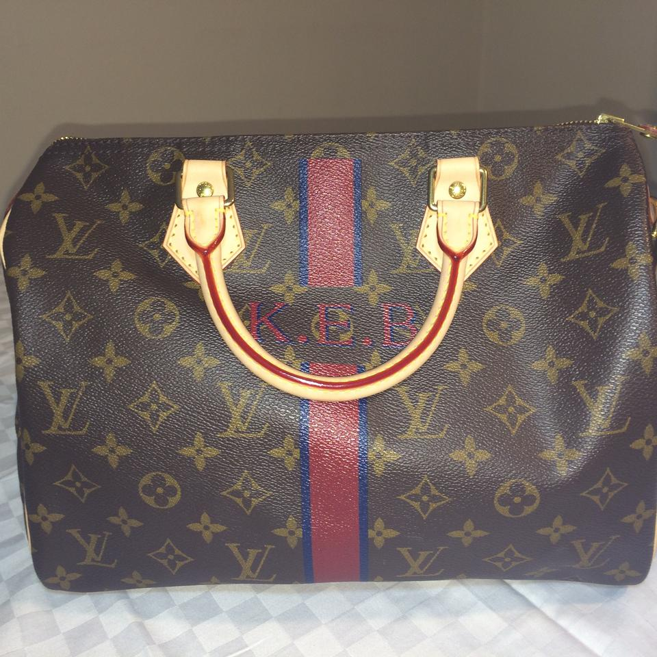 2c84a13f26a1 Louis Vuitton Painted Like New Excellent Used Condition Speedy Satchel in  Custom Colors-Brown