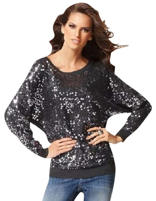 INC International Concepts Sequin Metallic Sparkle Beaded Sweater